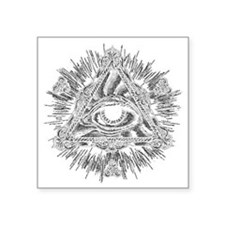 "All Seeing Eye Square Sticker 3"" x 3"""