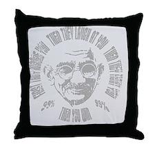 Gandhi-99-win-CRD Throw Pillow