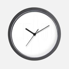 SuitUp_white Wall Clock