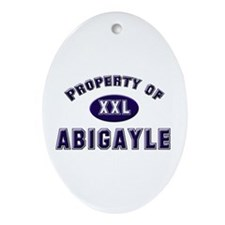 Property of abigayle Oval Ornament