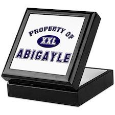 Property of abigayle Keepsake Box