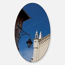 Sighisoara. Roman Catholic church b Sticker (Oval)