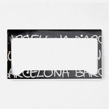 Spain, Catalonia, Barcelona. License Plate Holder