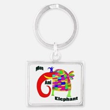 MonAmiElephant copy Landscape Keychain