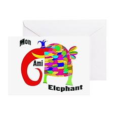 MonAmiElephant copy Greeting Card