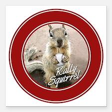 "squirrel_st-louis_winner Square Car Magnet 3"" x 3"""