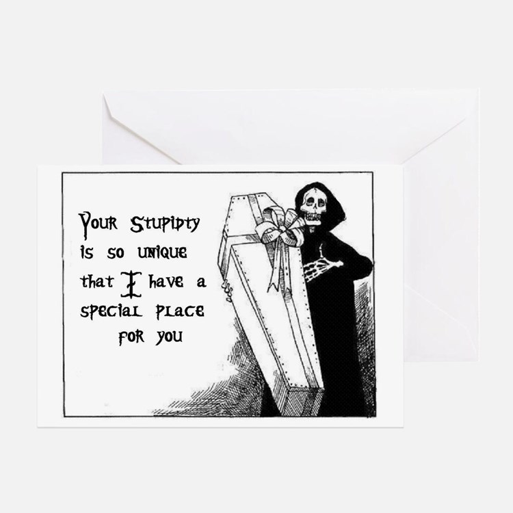 Stupidty Greeting Card
