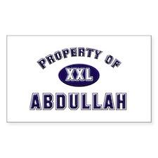Property of abdullah Rectangle Decal