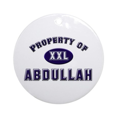 Property of abdullah Ornament (Round)
