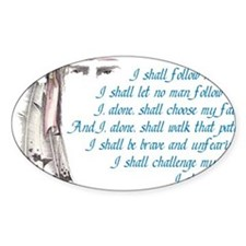 I shall be me Decal