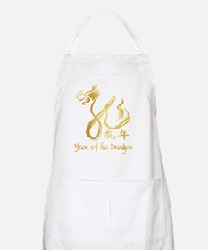 Gold Dragon New Year Apron