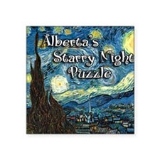"Albertas Square Sticker 3"" x 3"""