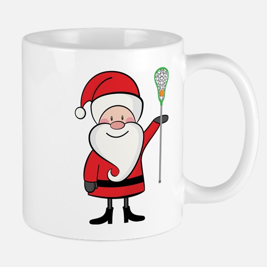 Lacrosse Santa Personalized Mug