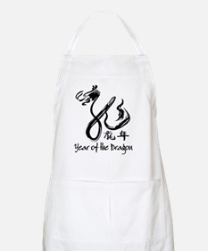 Black dragon chinese new year Apron