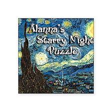 "Alannas Square Sticker 3"" x 3"""