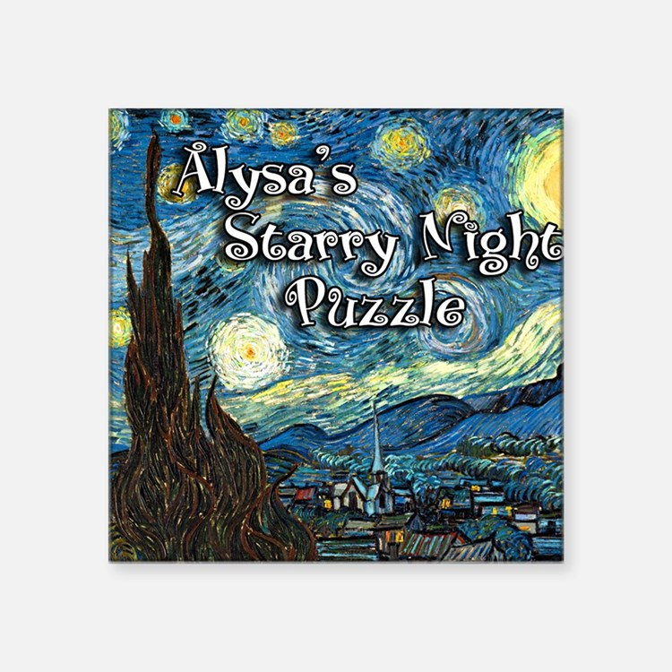 "Alysas Square Sticker 3"" x 3"""