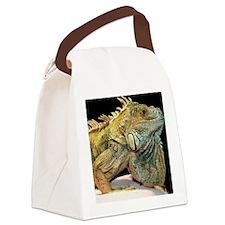 iguana-clock Canvas Lunch Bag