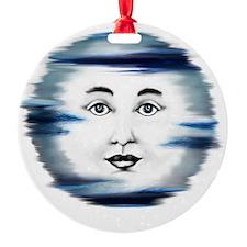 Blue Moon Face4 Ornament