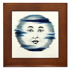 Blue Moon Face4 Framed Tile