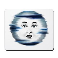 Blue Moon Face4 Mousepad
