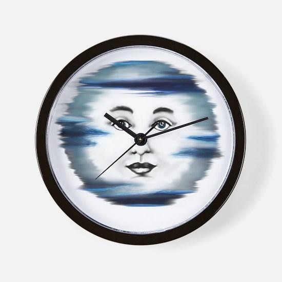 Blue Moon Face4 Wall Clock