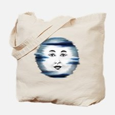 Blue Moon Face4 Tote Bag
