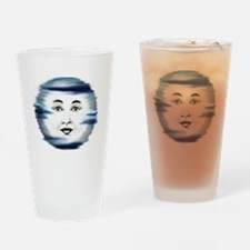 Blue Moon Face4 Drinking Glass