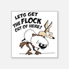 "flock Square Sticker 3"" x 3"""