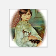 "Julie Manet by Renoir Square Sticker 3"" x 3"""