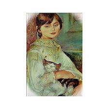Julie Manet by Renoir Rectangle Magnet