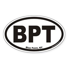 Blue Point New York BPT Euro Oval Decal