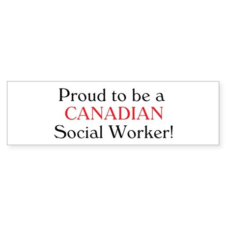 Proud To Be Canadian SW Bumper Sticker