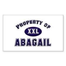 Property of abagail Rectangle Decal