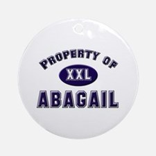 Property of abagail Ornament (Round)