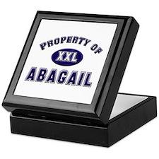 Property of abagail Keepsake Box