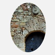 Catalunya. Benedictine monastery of  Oval Ornament