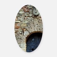 Catalunya. Benedictine monastery o Oval Car Magnet