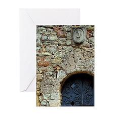 Catalunya. Benedictine monastery of  Greeting Card