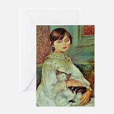 Julie Manet by Renoir Greeting Card