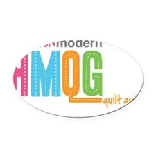 HMQG_StackedLogo Oval Car Magnet