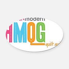 HMQG_StackedLogo Oval Car Magnet