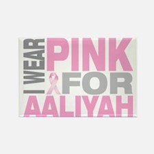 I-wear-pink-for-AALIYAH Rectangle Magnet