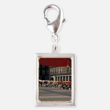 Europe, Spain, Madrid, Plaza Silver Portrait Charm