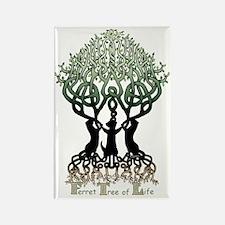 Ferret Tree of Life Rectangle Magnet
