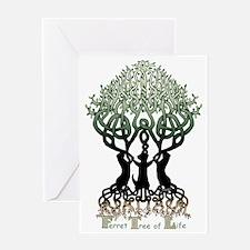 Ferret Tree of Life Greeting Card