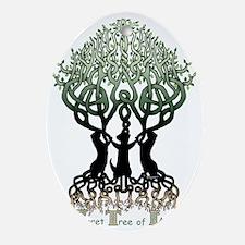 Ferret Tree of Life Oval Ornament