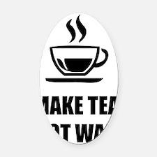 make tea Oval Car Magnet