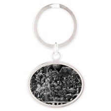 Collage Oval Keychain