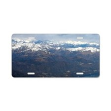 Lake of Lugano, on the bord Aluminum License Plate