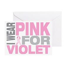 I-wear-pink-for-VIOLET Greeting Card